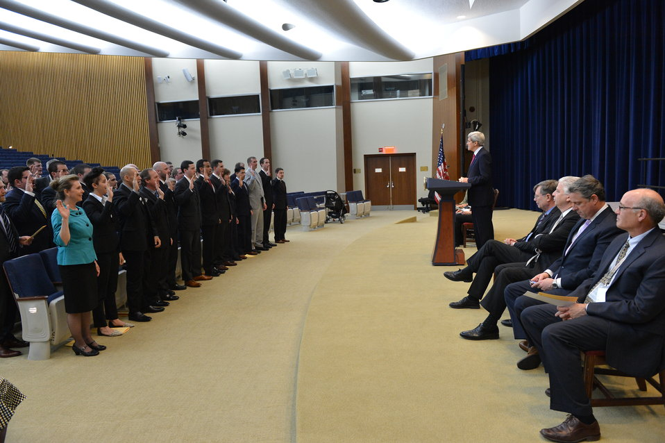 Secretary Kerry Swears in the 133rd Foreign Service Specialist Class