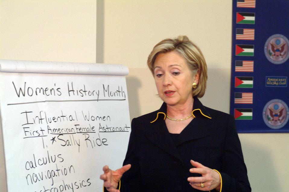 Secretary Clinton at Amideast Event