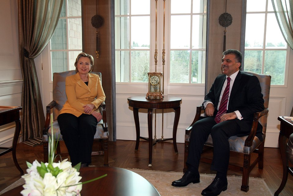 Secretary Clinton With Turkish President