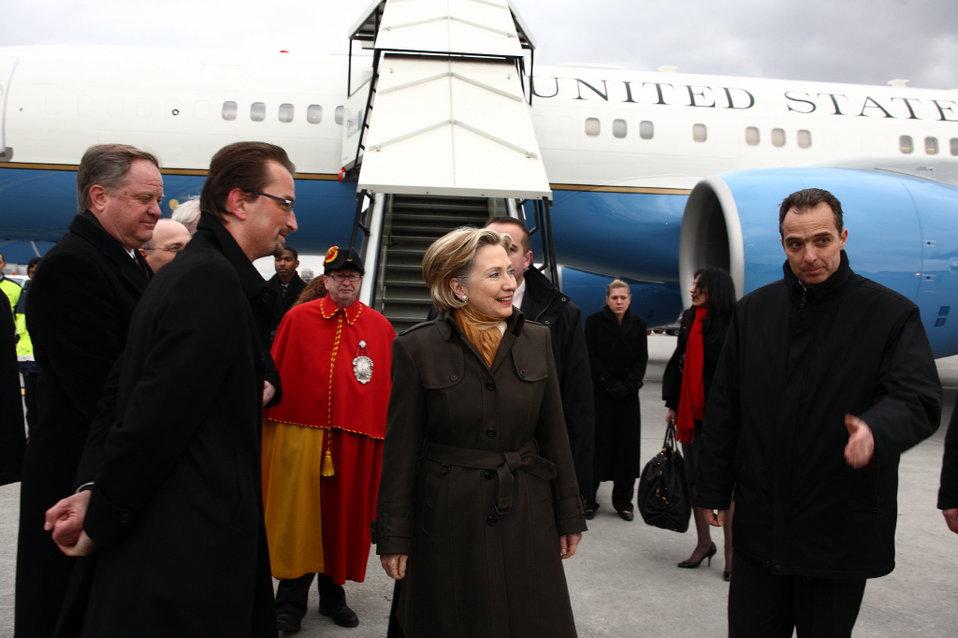 Arrival in Geneva, Switzerland