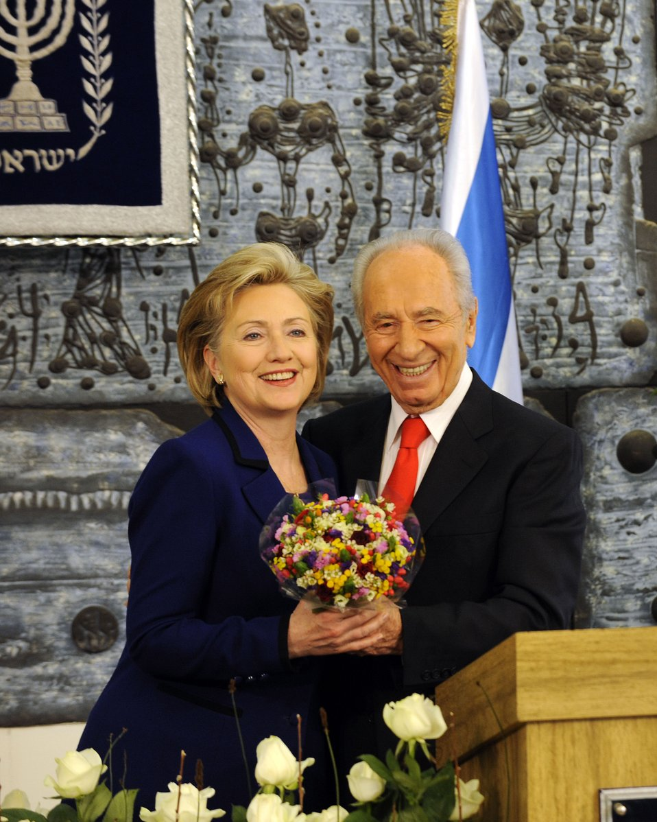 Secretary Clinton With President of Israel