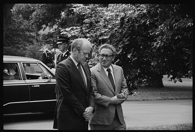 Secretary Kissinger with President Ford