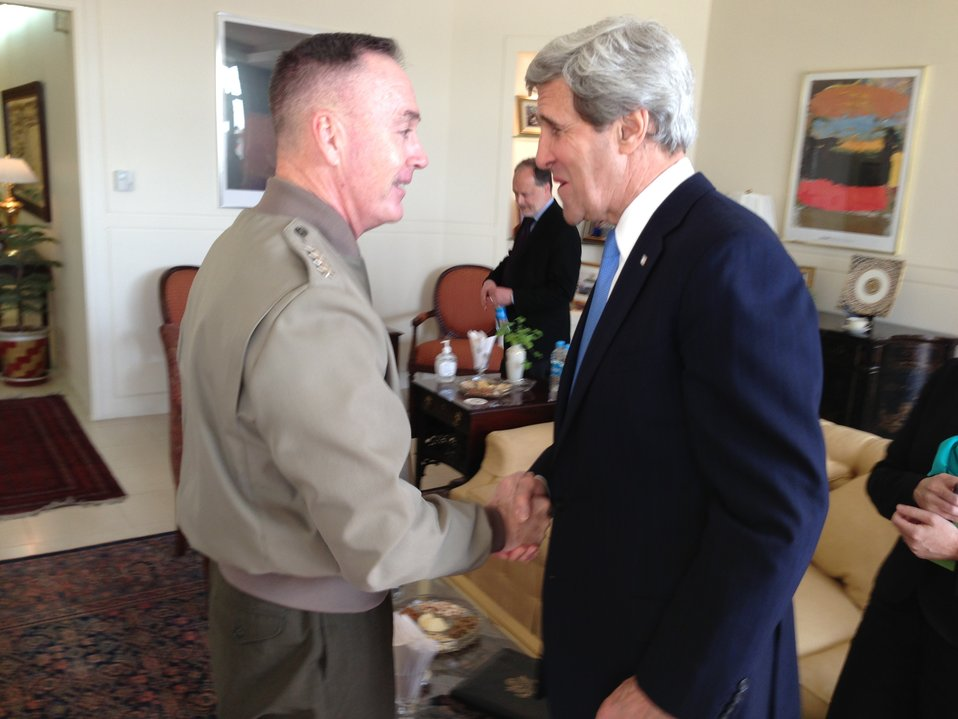 Secretary Kerry and General Dunford In Kabul