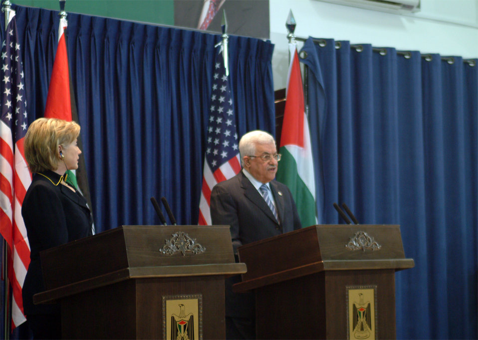 Secretary Clinton With Palestinian Authority President