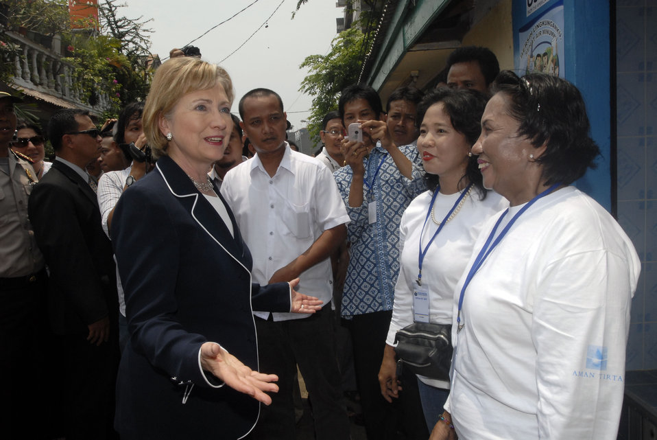 Secretary Clinton Meets With NGO Activists