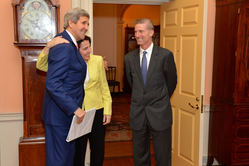 Secretary Kerry Greets Sarah Sewall