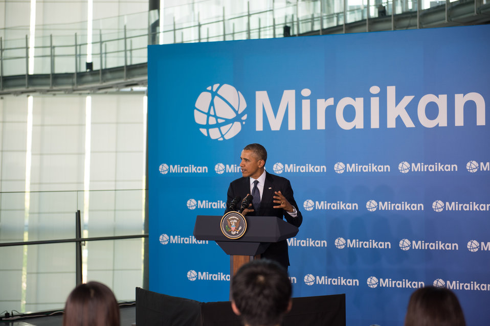President Obama Delivers Remarks at Miraikan