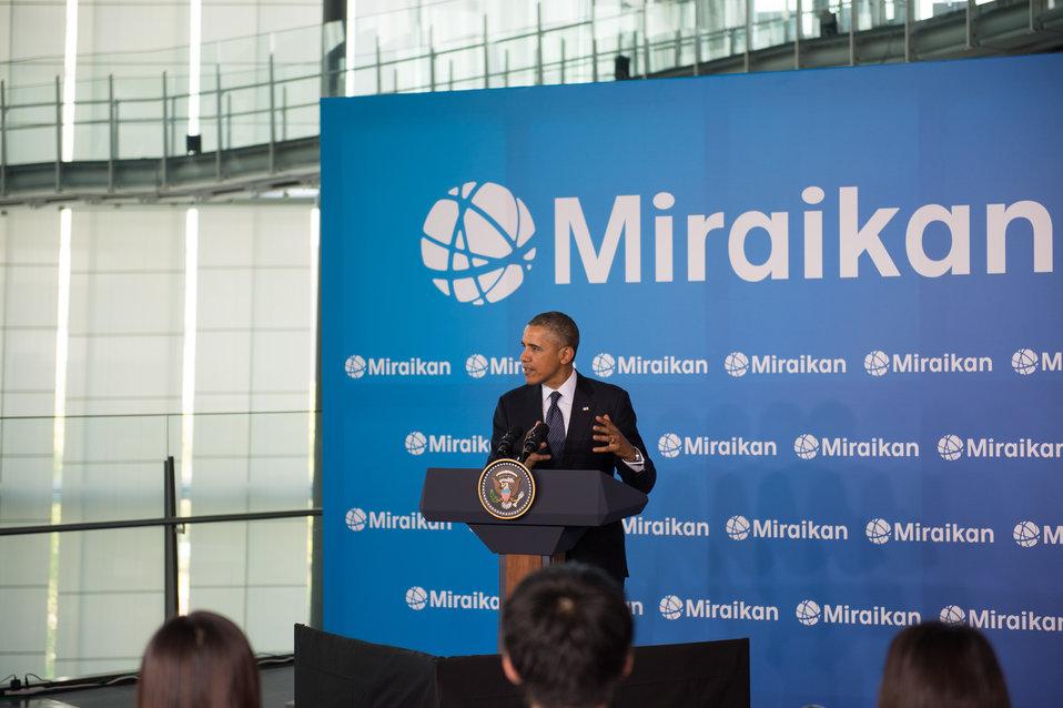 President Obama Delivers Remarks at Miraikan
