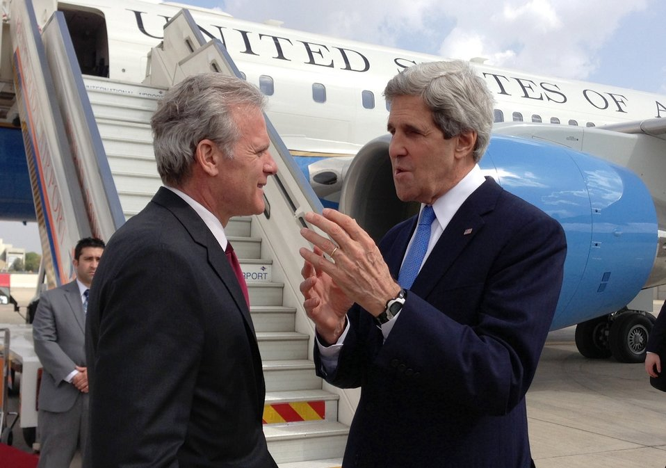 Secretary Kerry Bids Farewell to Israeli Ambassador Oren