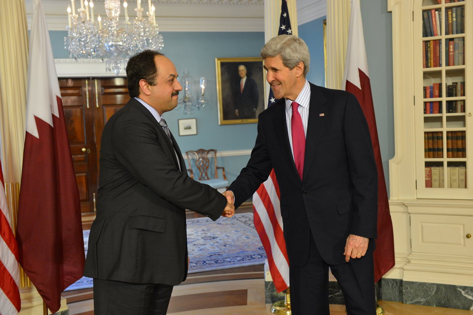 Secretary Kerry Meets With Qatari Foreign Minister Attiya