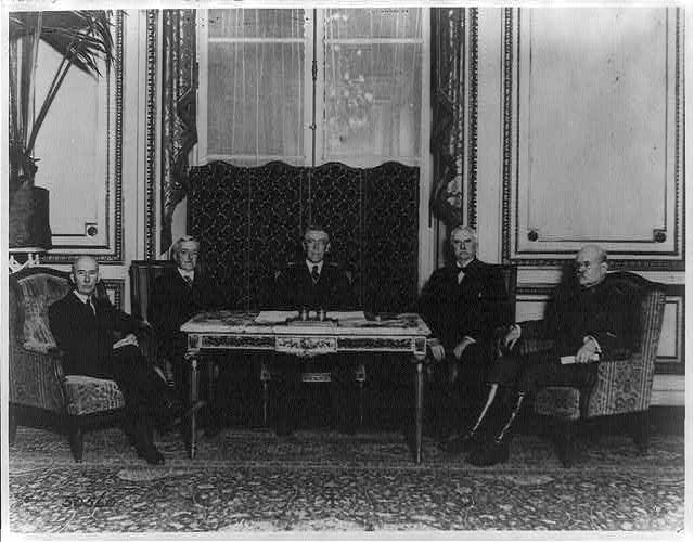 Secretary Lansing at the Paris Peace Conference