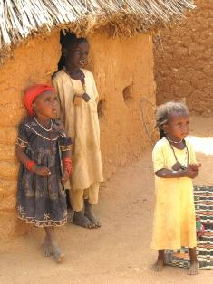 Three Sudanese Refugee Children Are Shown