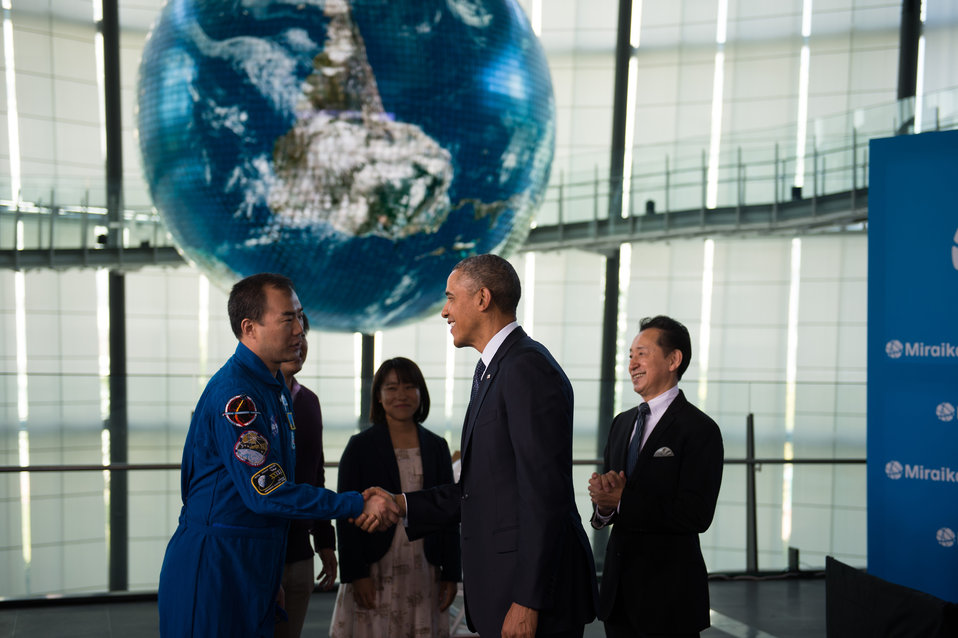 President Obama Speaks with Japanese Astronauts and Students