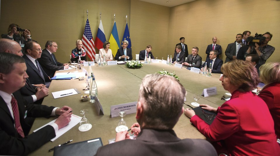 U.S., Russia, Ukraine, EU Hold Quadrilateral Meeting in Geneva