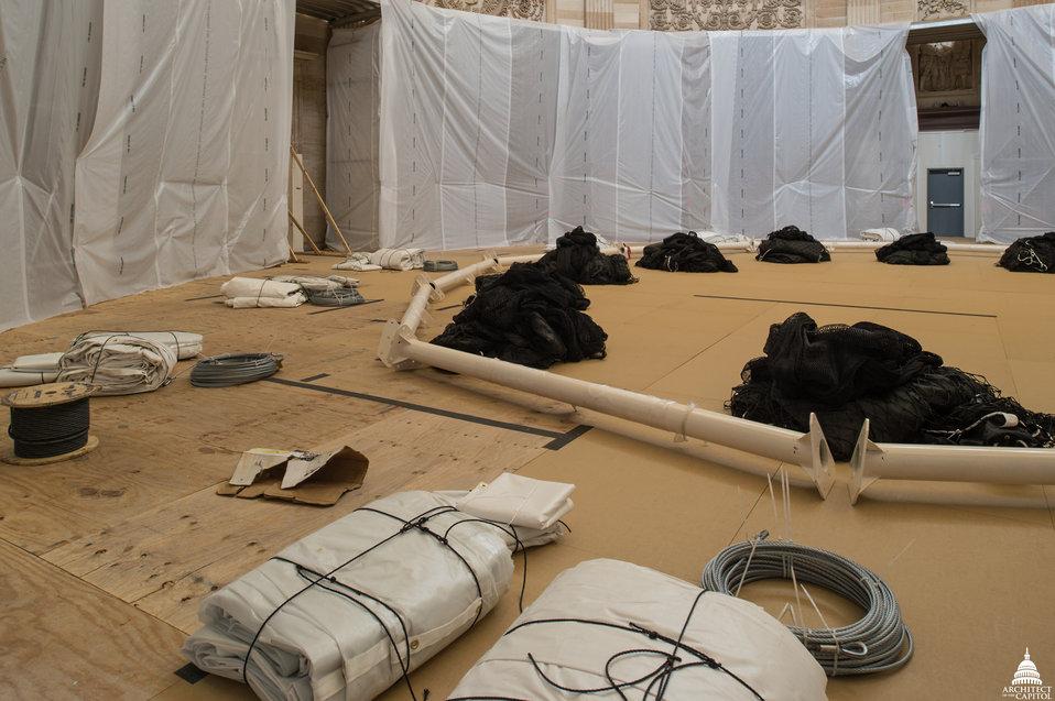 Capitol Dome Restoration - Rotunda Interior Protection9