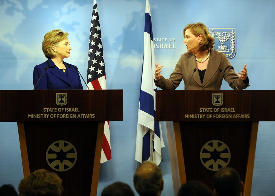 Secretary Clinton With Israeli Foreign Minister