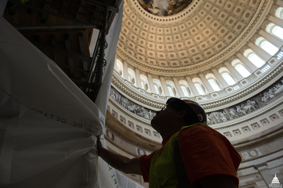 Capitol Dome Restoration - Rotunda Interior Protection