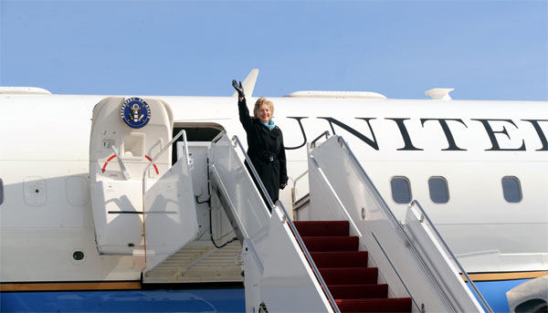 Secretary Clinton Leaves for Asia