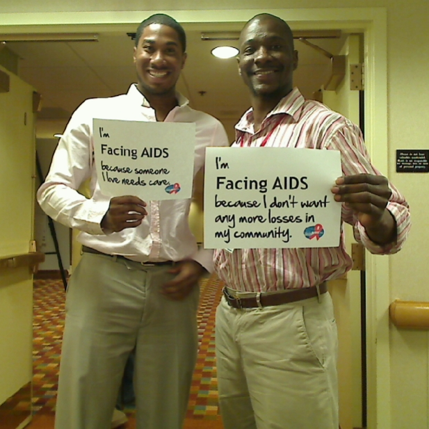 I'm Facing AIDS because someone I love needs care; I'm Facing AIDS because I don't want any more losses in my community.