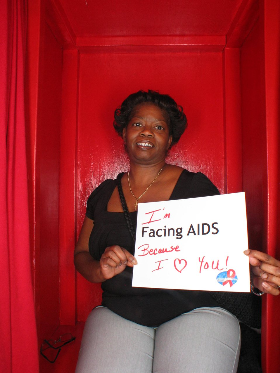 I'm Facing AIDS because I love you!