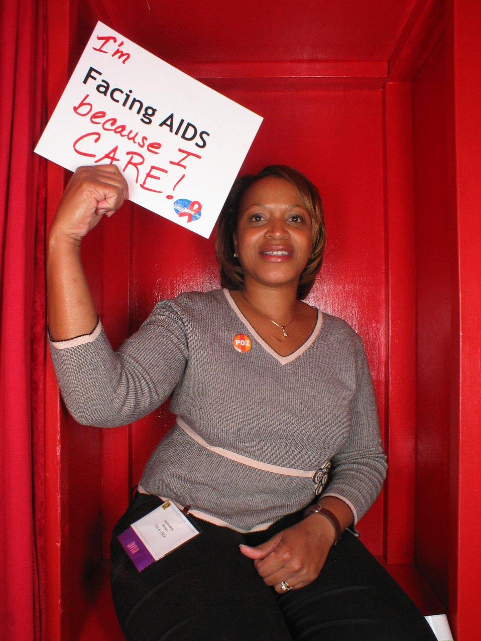 I'm Facing AIDS because I care!