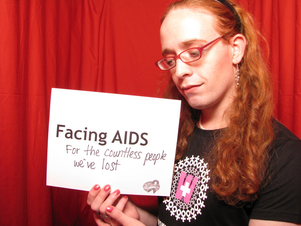 FACING AIDS for the countless people we've lost.