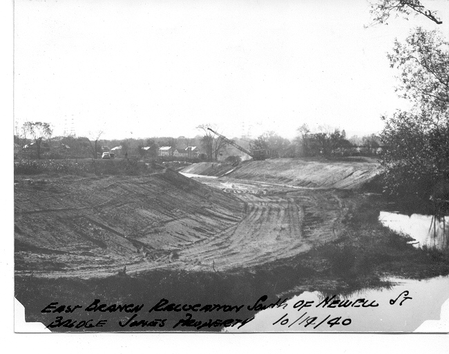 (Historical photo) October 14, 1940 Housatonic East Branch 'Relocation'