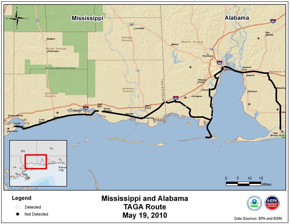 EPA TAGA Air Monitoring Locations May 19, 2010