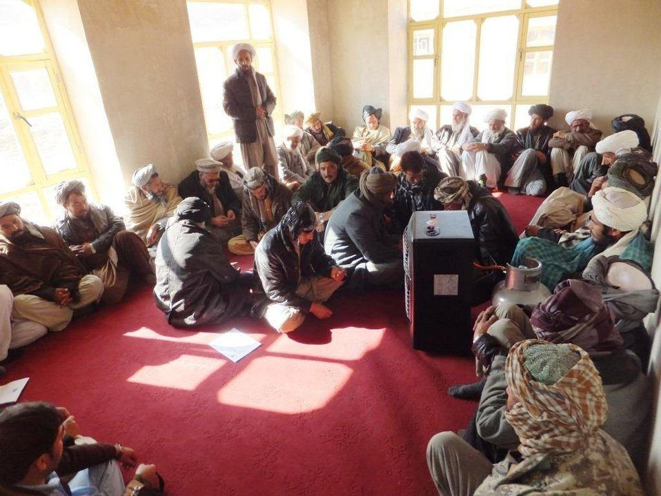 The Shahrak Acting District Governor held a meeting with 35 district Ulema and elders on November 26