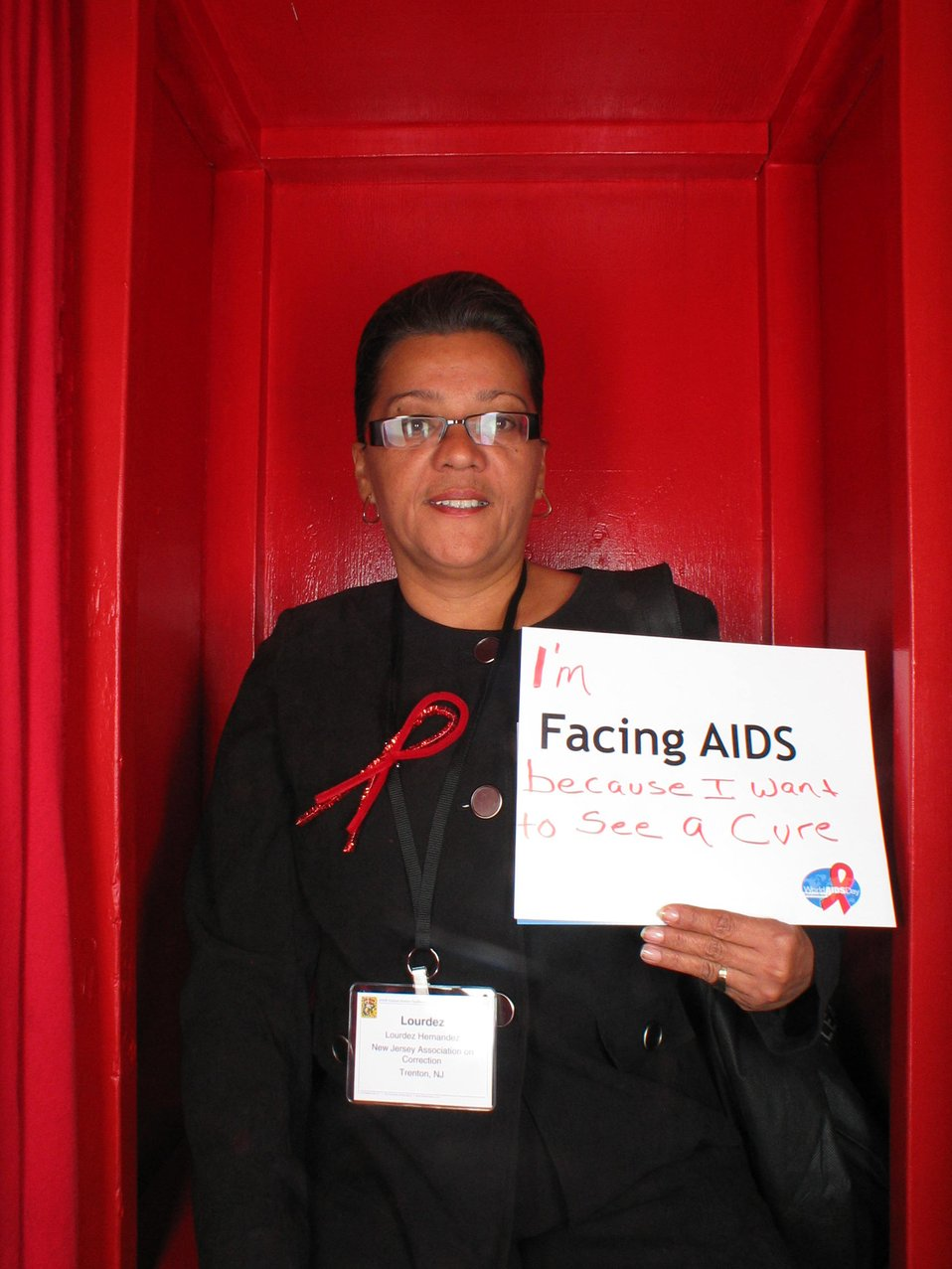 I am Facing AIDS because I want to see a cure.