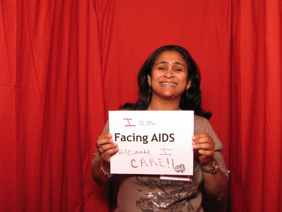 I am FACING AIDS because I CARE!!