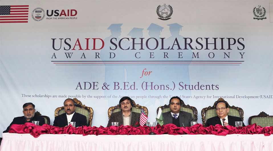 001:  Peshawar, 27 Dec., 2011: USAID awarded scholarships to 44 Teacher Students from KP through its Pre-Service Teacher Education Program (Pre-STEP).