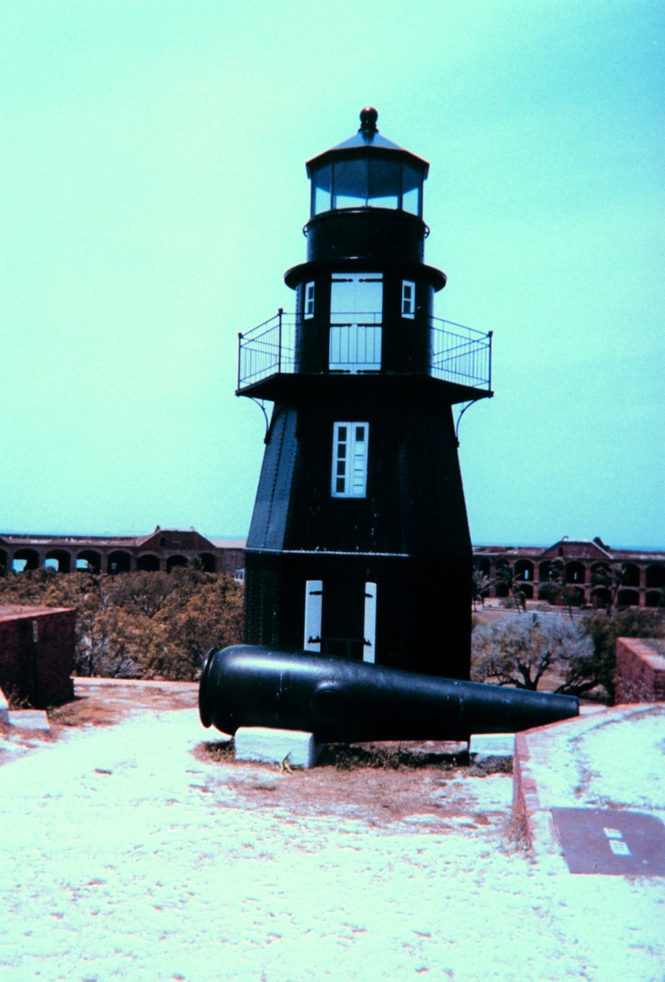 The lighthouse at Fort Jefferson, Dry Tortugas National Park.