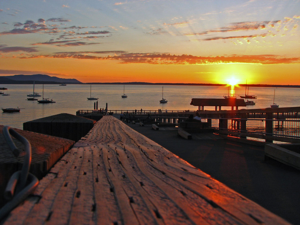 Bellingham Bay at sunset