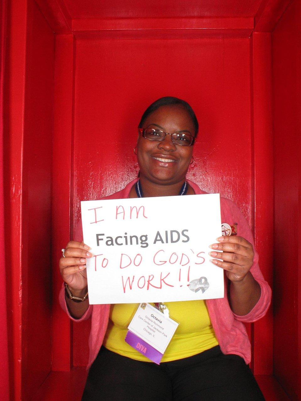 I am Facing AIDS to do God's work!!