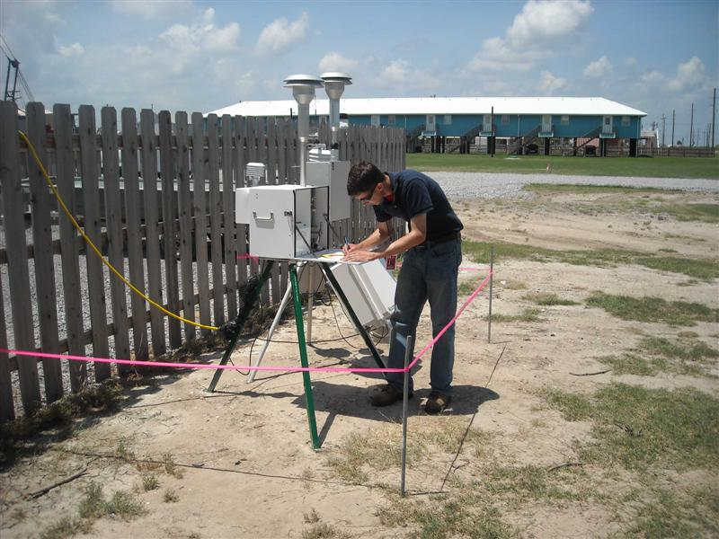 EPA Air Sampling Stations along the Gulf coast