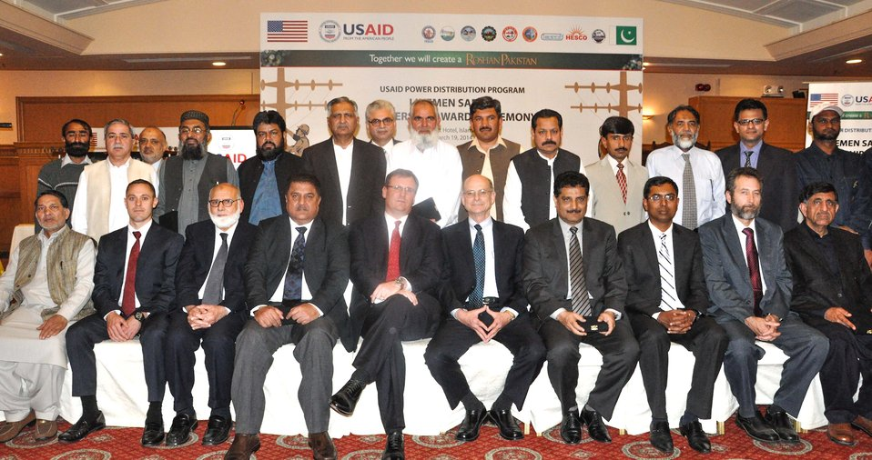 Michael Curtis, Director of USAID Energy Office with Participants of the Training