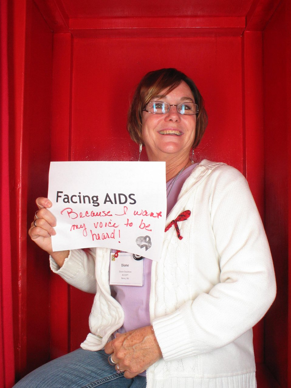 Facing AIDS because I want my voice to be heard!