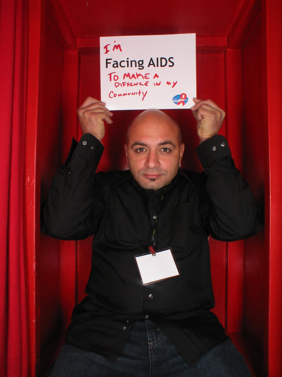 I'm Facing AIDS to make a difference in my community.