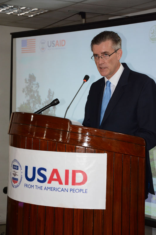 The United States Ambassador to Pakistan, Richard Olson broke ground for a U.S. funded construction of a new Faculty of Education building in Muzaffarabad, AJK.  27