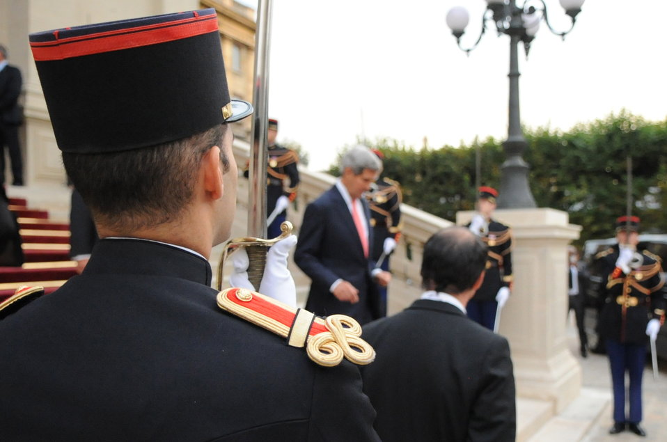 Secretary Kerry Departs French Ministry of Foreign Affairs