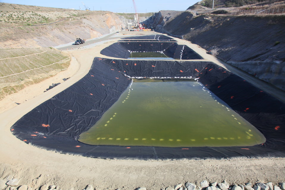 Water treatment at the Folsom auxiliary spillway