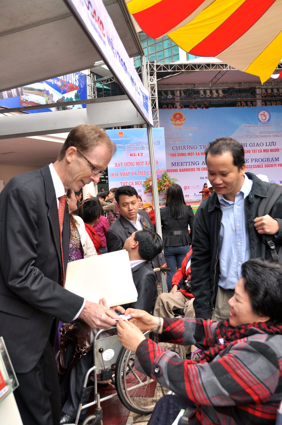 USAID Mission Director Joakim Parker joins celebration of International Day of Persons with Disabilities in Hanoi, Vietnam