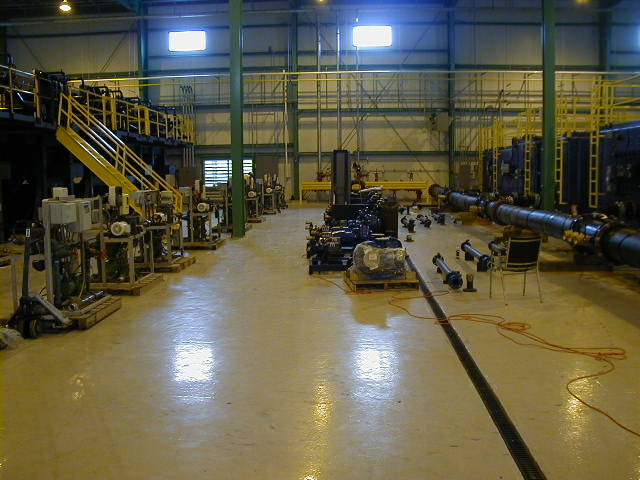 Summer 2005, a view inside the de-watering plant