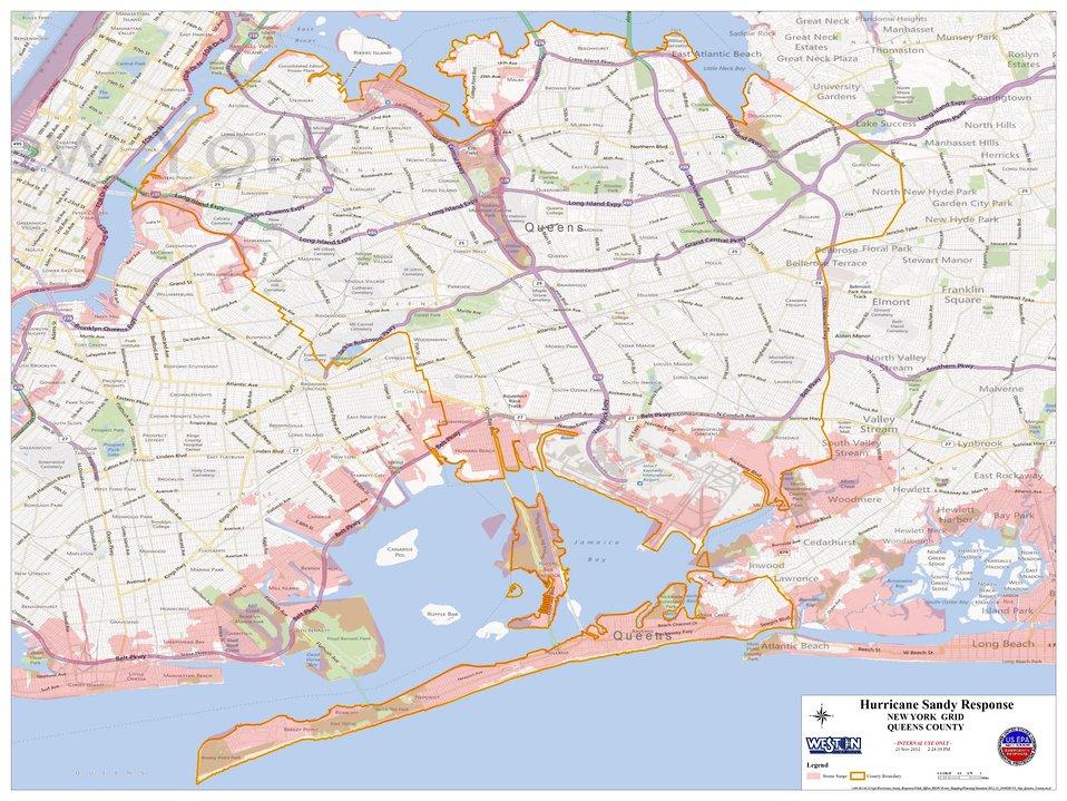Hurricane Sandy Hazardous Waste Pickup Sites - Queens County