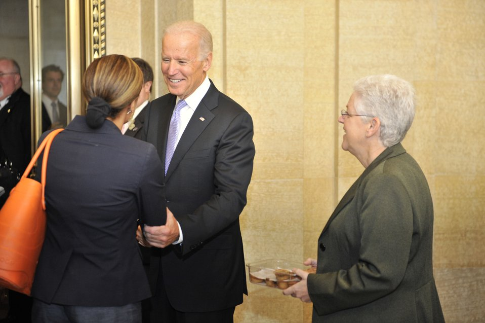 Vice President Biden and Administrator McCarthy at EPA HQ