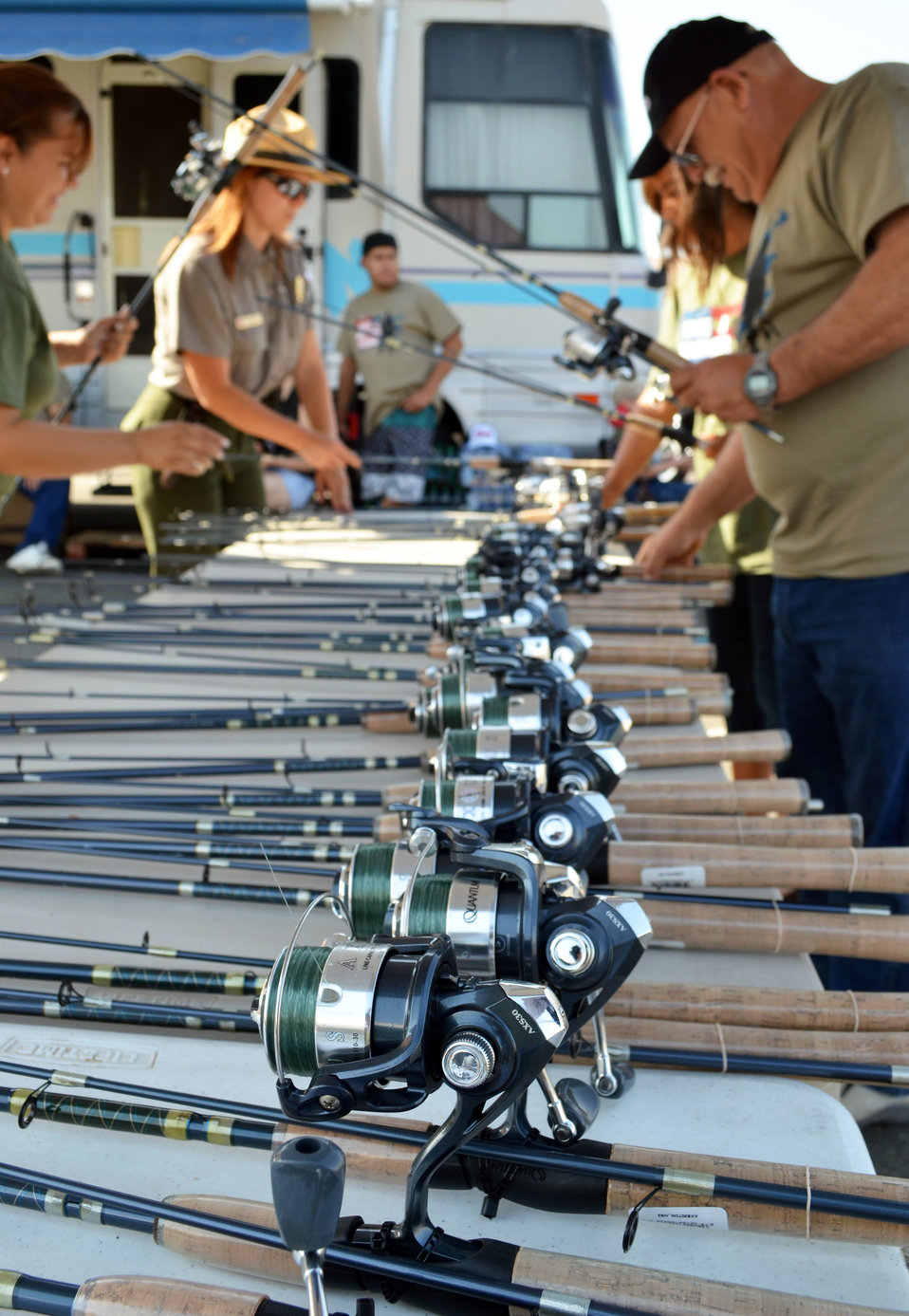 "Reels and rods ready to rock (""Take a Warrior Fishing"" event at Success Lake)"