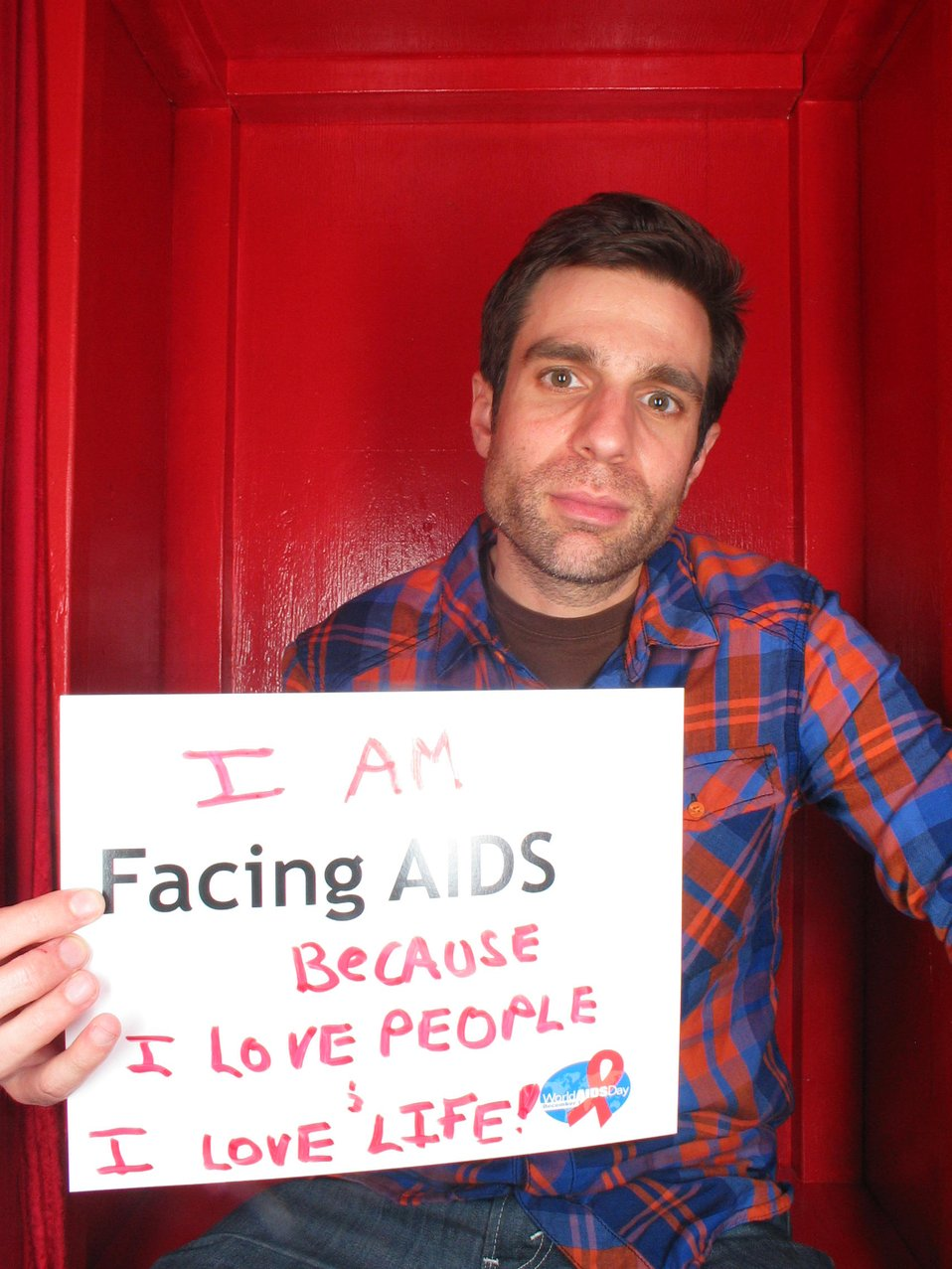 I am Facing AIDS because I love people and love life.