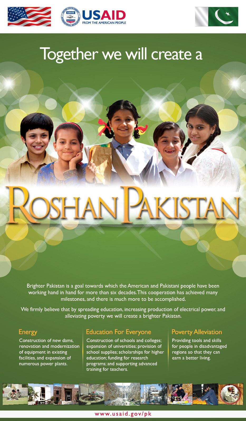 Together, we will create a Roshan Pakistan
