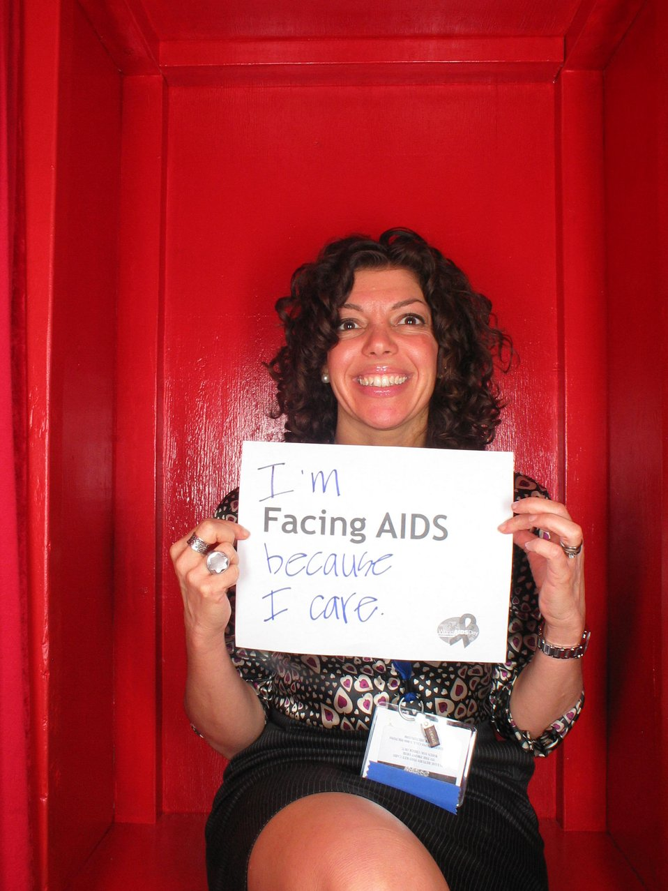 I'm Facing AIDS because I care.